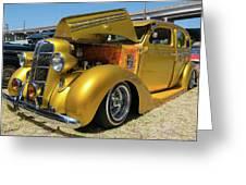 Golden Vintage Dodge Greeting Card