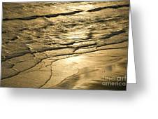 Golden Waves Greeting Card