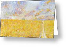 Golden Wheat Field Greeting Card