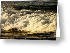 Golden White Wave Greeting Card