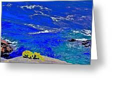 Golden Yarrow Rock Sea Point Lobos Greeting Card