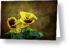 Golden Yellow Pensamientos Greeting Card