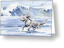 Goldendoodle At The Beach Greeting Card