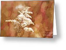 Goldenrod Plant In Fall Greeting Card