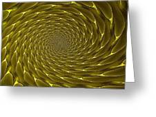 Goldenrod Vortex Greeting Card