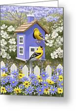 Goldfinch Garden Home Greeting Card