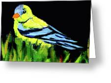 Goldfinch In The Garden Greeting Card