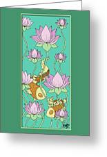 Goldfish And Lotus Greeting Card