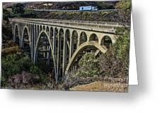 Goleta Hwy 101 Bridge Greeting Card