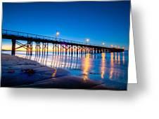 Goleta Pier At Sunrise Greeting Card