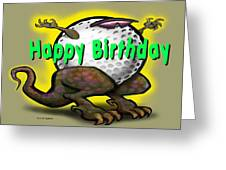 Golf A Saurus Birthday Greeting Card