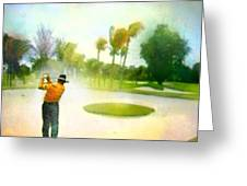Golf At The Blue Monster In Doral Florida 02 Greeting Card