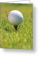 Golf Ball On Tee Greeting Card