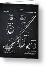 Golf Club Patent 1910 Chalk Greeting Card
