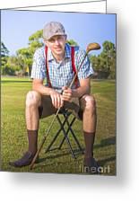 Golf Club Pro Greeting Card