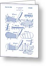 Golf Clubs Patent Drawing Greeting Card
