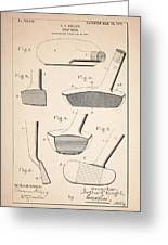 Golf Clubs Patent - Patent Drawing For The 1903 A. F. Knight Golf Clubs Greeting Card