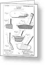 Golf Clubs Patent - Restored Patent Drawing For The 1903 A. F. Knight Golf Clubs Greeting Card