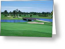 Golf Course Gold Coast Queensland Greeting Card