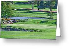 Golf Course Greeting Card