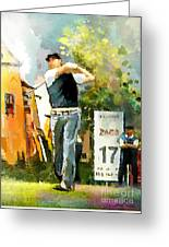 Golf In Club Fontana Austria 01 Dyptic Part 01 Greeting Card