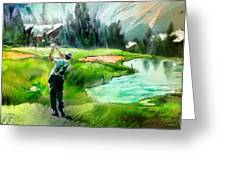 Golf In Crans Sur Sierre Switzerland 01 Greeting Card