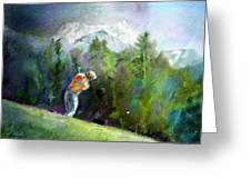 Golf In Crans Sur Sierre Switzerland 02 Greeting Card
