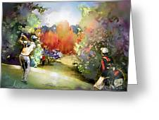 Golf In Gut Laerchehof Germany 02 Greeting Card