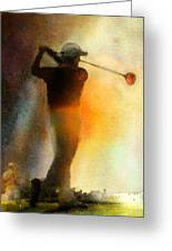 Golf In The Portugal Masters 01  Greeting Card