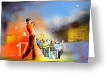 Golf Madrid Masters 01 Greeting Card