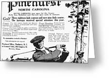Golf: Pinehurst, 1916 Greeting Card