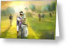 Golf Vivendi Trophy In France 03 Greeting Card
