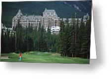 Golfer Heaven In Banff Greeting Card