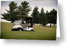 Golfing Golf Cart 01 Greeting Card