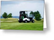 Golfing Golf Cart 03 Greeting Card