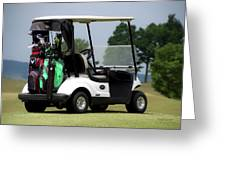 Golfing Golf Cart 05 Greeting Card
