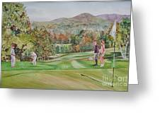 Golfing In Vermont Greeting Card