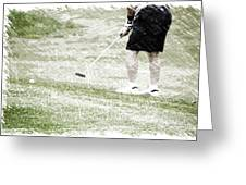 Golfing Putting The Ball 01 Pa Greeting Card