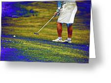 Golfing Putting The Ball 02 Pa Greeting Card