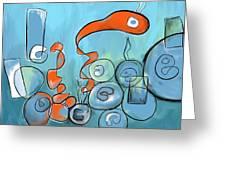 Golfo Eggd Greeting Card