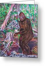 Goliath - The Bigfoot Of Ash Swamp Road Greeting Card