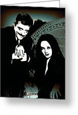 Gomez And Morticia Addams Greeting Card