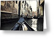 gondola - Venice Greeting Card by Joana Kruse