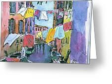 Gondola In A Venetian Canal Greeting Card