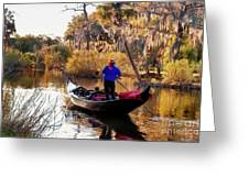 Gondola In City Park Lagoon New Orleans Greeting Card