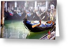 Gondola In Venice In The Morning Greeting Card