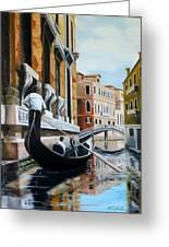 Gondola Ride On Venice Italy Canal Greeting Card