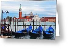 Gondola Station  On Grand Canal Greeting Card