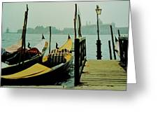 Gondolas Greeting Card
