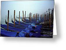 Gondolas In Venice In The Morning Greeting Card